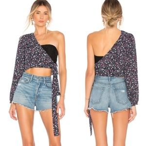 Lovers + Friends Gina Floral One Shoulder Blouse